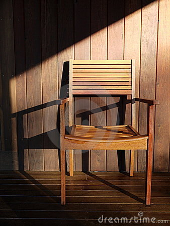 Outdoor furniture: teak wooden chair