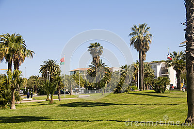 Outdoor garden park Antibes France French Riviera
