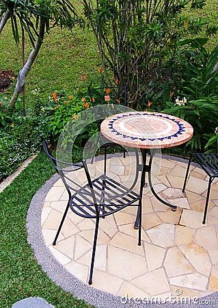 Free Outdoor Garden Patio Furniture Stock Image - 5460721