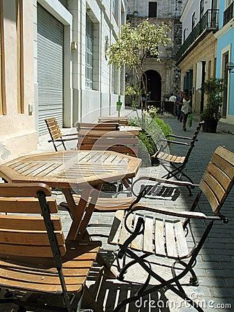 Outdoor Havana cafe