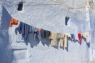 Outdoor Laundry in Chefchaouen