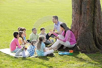 Outdoor Lesson Stock Photo