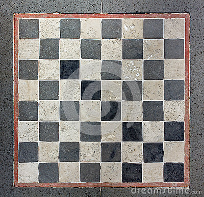 Outdoor Marble Chessboard