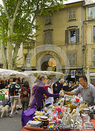 Outdoor Market, Aix-en-Provence, France Editorial Stock Image