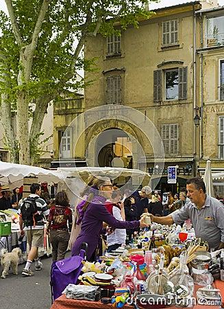 Outdoor Market, Aix-en-Provence, France Editorial Stock Image