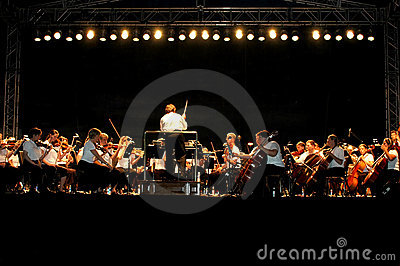 Outdoor night concert Editorial Image