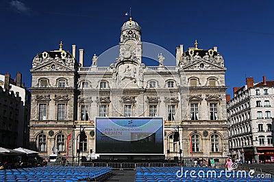 Outdoor Opera show in Lyon Editorial Photo