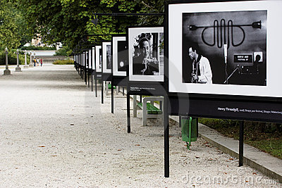 Outdoor photography exhibition Editorial Stock Image