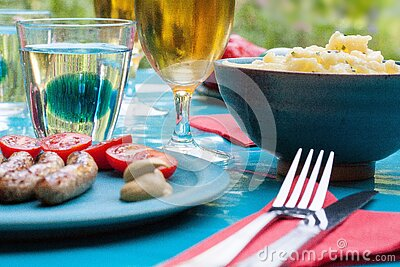 Outdoor Picnic Table With Food Free Public Domain Cc0 Image