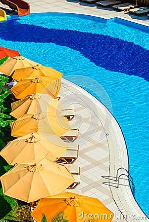 Outdoor pool in luxury resort