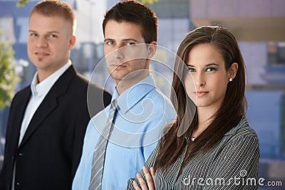 Outdoor portrait of businesspeople