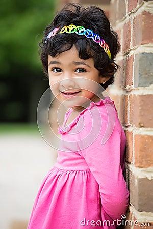 Outdoor Portrait of a Little Girl