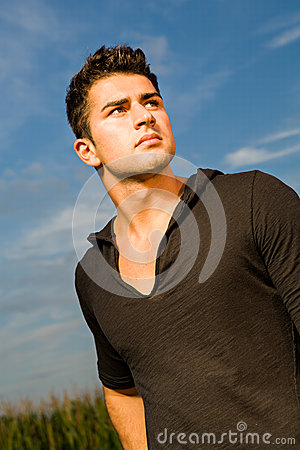 Outdoor portrait of man