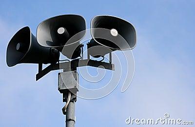 Outdoor Public-address speakers