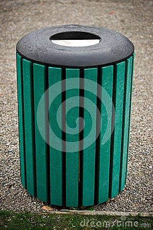 Outdoor Public Trash Barrel