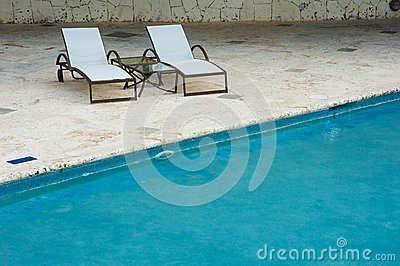 Outdoor resort pool Swimming pool of luxury hotel. Swimming pool in luxury resort near the sea. Tropical Paradise. Swimming pool i