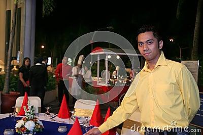 Outdoor restaurant staff or waiter