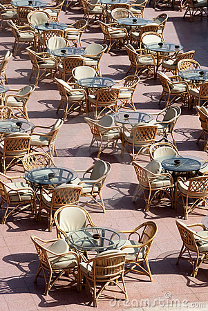 Outdoor restaurant - the tables