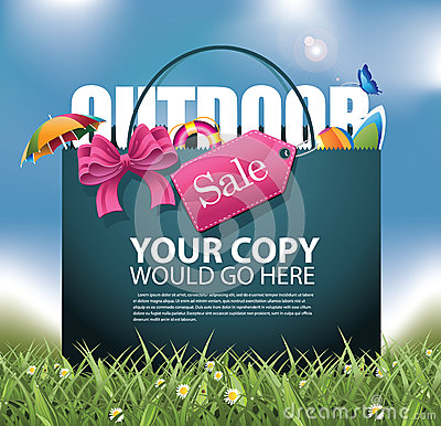 Free Outdoor Sale Shopping Bag Background Royalty Free Stock Photo - 53249595