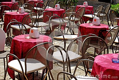 Outdoor seating - Tropea - Calabria