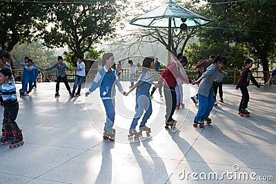 Outdoor skating Editorial Photo