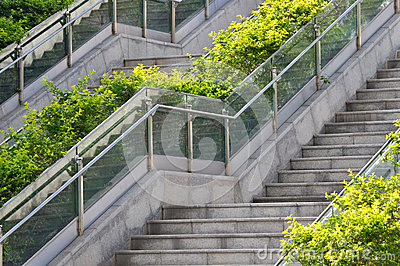 Outdoor stair in pattern