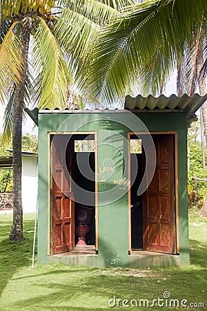 Outdoor toilets big corn island farm nicaragua
