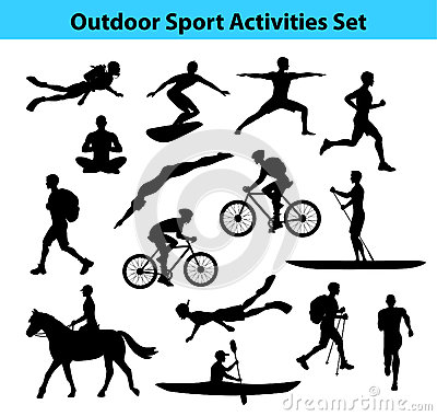 Free Outdoor Training Sport Activities. Male Silhouette. Royalty Free Stock Images - 78863089