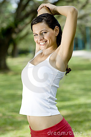 Outdoor Triceps Stretch