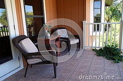 Outdoor tropical balcony