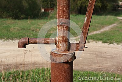 Outdoor water pump-tap