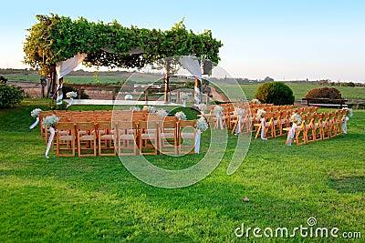 Outdoor wedding ceremony canopy