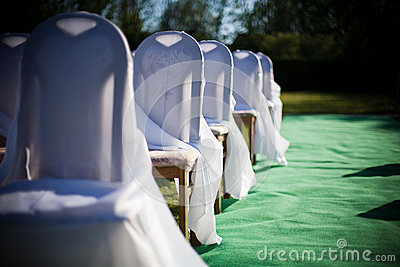 Outdoor wedding decoration