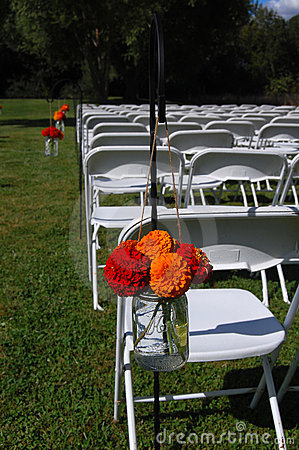 Free Outdoor Wedding With Flowers Royalty Free Stock Photography - 14115237