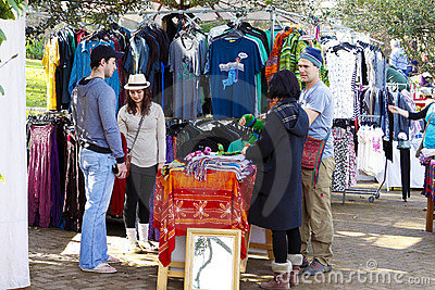 Outdoors craft market Editorial Stock Image
