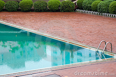 Outdoors Spa swimming pool.