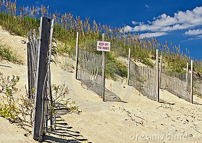 Outer Banks Beach Sand Dunes