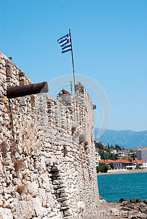 Free Outer Castle Wall In Nafpaktos Stock Photos - 34414193