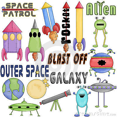 Outer Space Clipart Graphics