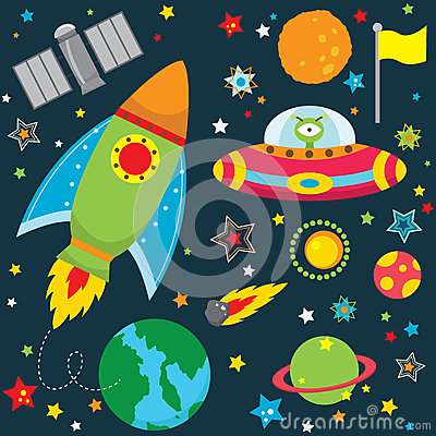 Free Outer Space Design Elements Royalty Free Stock Photography - 57183317