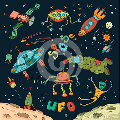 Outer space design elements stock vector image 53157756 for Outer space design richmond