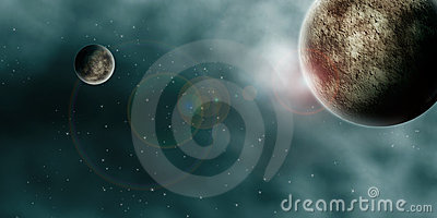 Outer Space Planets Panorama