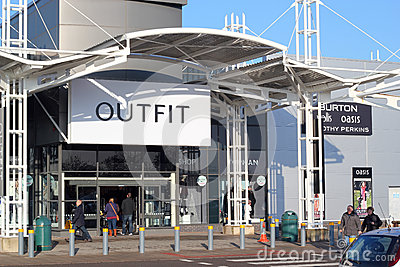 Outfit stores. Editorial Stock Image