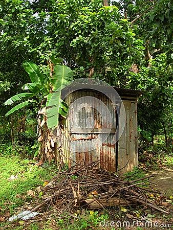 Outhouse toilet bathroom zinc house nicaragua