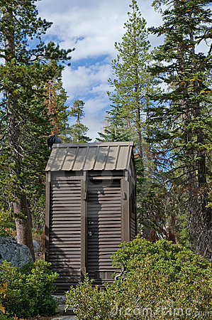 Outhouse in wilderness