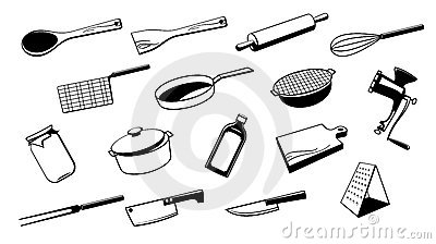 outil d 39 ustensile de cuisine photo libre de droits. Black Bedroom Furniture Sets. Home Design Ideas