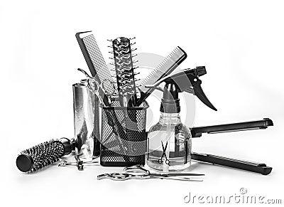 outils de coiffeur photo stock image 44198181. Black Bedroom Furniture Sets. Home Design Ideas
