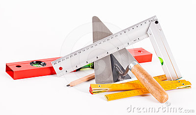 Outils de construction de ma on photographie stock image for Outil de construction