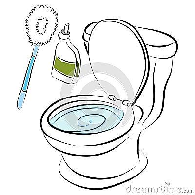 outils de nettoyage de cuvette de toilette photos stock image 23855663. Black Bedroom Furniture Sets. Home Design Ideas