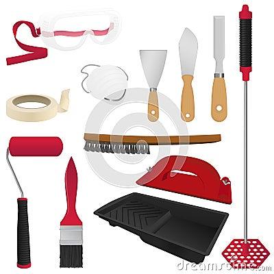 outils de peinture images stock image 34794804. Black Bedroom Furniture Sets. Home Design Ideas